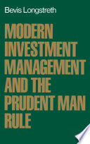 Modern Investment Management and the Prudent Man Rule