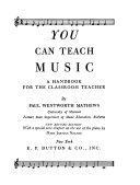 You can teach music