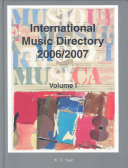 International Music Directory 2006 2007
