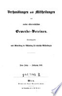 Verhandlungen des niederösterreichischen Gewerb-Vereins