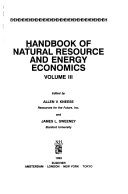 Handbook of Natural Resource and Energy Economics