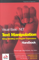 Visual Basic Net Text Manipulation Handbook book