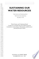 Sustaining Our Water Resources