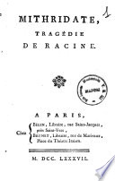 Mithridate  tragedie de Racine