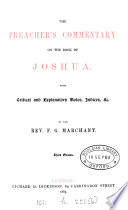 The preacher s commentary on the book of Joshua