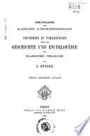 Bibliographie der klassischen Alterthumswissenschaft