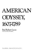 American odyssey  1607 1789
