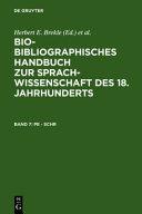 Bio-bibliographisches Handbuch zur Sprachwissenschaft des 18. Jahrhunderts