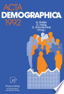 Acta Demographica 1992