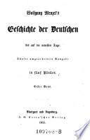 Wolfgang Menzel's Geschichte der Deutschen