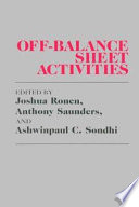 Off Balance Sheet Activities
