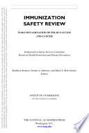 Book Immunization Safety Review