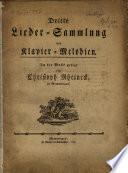 Dritte Lieder Sammlung mit Klavier Melodien  In die Musik gesezt von Christoph Rheineck  in Memmingen