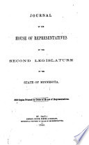 Journal of the House of Representatives, During the ... Session of the Legislature of the State of Minnesota