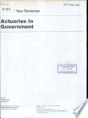 Actuaries In Government