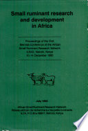 Small Ruminant Research and Development in Africa