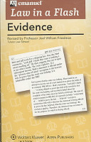 Law in a Flash Cards  Evidence