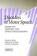 Disorders Of Motor Speech