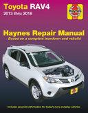 Toyota Rav4 2013 Thru 2018 Haynes Repair Manual