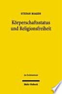 Körperschaftsstatus und Religionsfreiheit