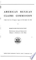 Report to the Secretary of State, with Decisions Showing the Reasons for the Allowance Or Disallowance of the Claims