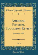 American Physical Education Review  Vol  3
