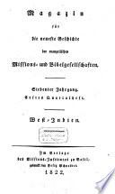 Magazin für die neueste Geschichte der evangelischen Missions- und Bibelgesellschaften