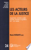 illustration Les Acteurs de la justice