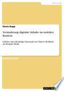 Vermarktung digitaler Inhalte im mobilen Kontext