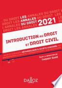 Annales Introduction Au Droit Et Droit Civil 2021