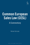 Common European Sales Law  CESL