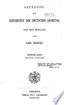 Grundriss zur Geschichte der deutschen Dichtung aus den quellen