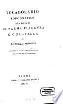 Vocabolario topografico dei Ducati di Parma, Piacenza e Guastalla