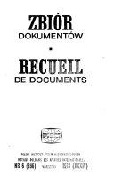 Recueil de documents