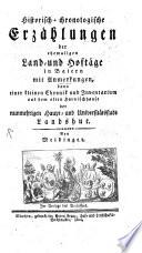 Historisch-chronologische Erzählungen der ehemaligen Land-und Hoftäge in Baiern