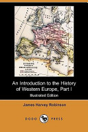 An Introduction to the History of Western Europe, Part I