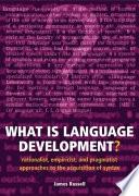 What is Language Development?