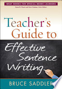 Teacher s Guide to Effective Sentence Writing