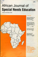 African Journal of Special Needs Education