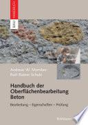 Handbuch der Oberfl  chenbearbeitung Beton
