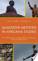Qualitative Methods in Africana Studies