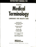 Instructor s manual for Glencoe medical terminology