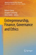 Entrepreneurship, Finance, Governance and Ethics