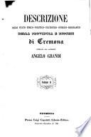 Descrizione dello stato fisico politico statistico storico biografice della Provincia e Diocesi di Cremona