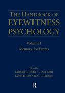 Handbook of Eyewitness Psychology  Memory for events Book PDF