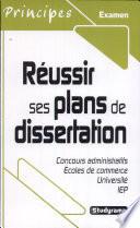 R  ussir ses plans de dissertation