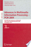 Advances in Multimedia Information Processing - PCM 2004 Conference On Multimedia Pcm 2004 Held In Tokyo