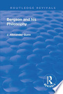 Revival: Bergson and His Philosophy (1920)