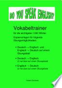 DO YOU SPEAK ENGLISH  Vokabeltrainer Kopiervorlagen