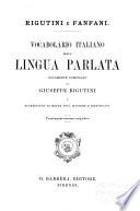 Vocabolario italiano delle lingua